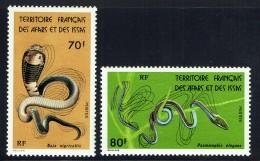 1976  Serpents: Naja, Psamorphis   Yv 436-7  ** - Afars Et Issas (1967-1977)