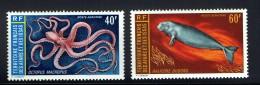 1973  Pieuvre Et Dugong  Yv 85-6   ** - Afars Et Issas (1967-1977)