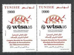 New 2016- Tunisia- World Telecommunication Standardization Assembly- Complete Set 1 V.MNH**Pair