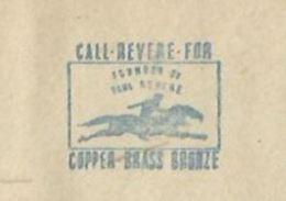 EMA AFS METER STAMP FREISTEMPEL USA ROME 1944 - COPPER BRASS BRONZE HORSE