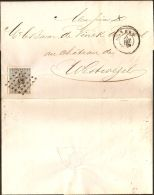 Belgium 1868, 10 C Single Franking Antwerp/Anvers To Westwezel,