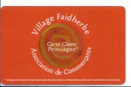 Carte  Privilège - Village Faidherbe Paris XI - Association De Commerçants - Dos Blanc Avec Adresse E Mail - Unclassified