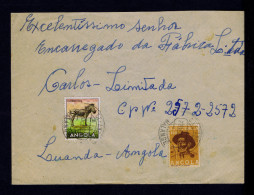 """Angola MALANGE Cover 1956! + Additional $50 ASSISTENCE """" Zebra """" Faune Animals Animaux Portugal Sp4324"""