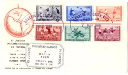 Juegos Panamericanos Futbol 1960_FDC_Costa Rica