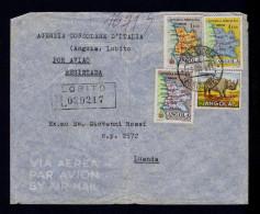"Angola LOBITO Cover 1955 "" Rinhoceros + Maps "" Faune Animals Animaux Portugal Sp4327 - Timbres"