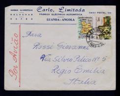 "Angola S.PAULO - AVIÂO Luanda Cover 1965 "" Churches + Maps "" CACUSO-Malange église Religion Architecture Portugal Sp4326 - Eglises Et Cathédrales"