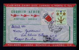 Angola S.PAULO Luanda Cover 1965 Condecorations Armoiries Brasons Cidade S.Salvador Do Congo Coat Of Arms Portugal S4329 - Sobres