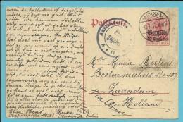 Entier Met Duitse Brugstempel MERXEM - [OC1/25] General Gov.
