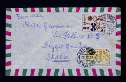 Angola S.PAULO Luanda Cover 1967 Condecorations 3 Armoiries Portugal Sp4330 - Arts