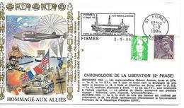 51  FISMES  Fête Du Cinquantenaire De La Libération Pont Mémorial Amèricain 4 Septembre 1994  3/09/94