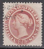 NEWFOUNDLAND    SCOTT NO. 28   USED      YEAR  1865 - Newfoundland