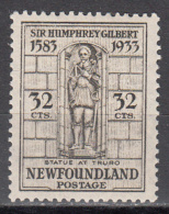 NEWFOUNDLAND    SCOTT NO.  225     MINT HINGED     YEAR  1933 - Newfoundland