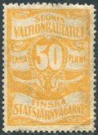 Russia Finland 1909 State Railways (VR) 50 Penni Railway Parcel Eisenbahn Paketmarke Chemin De Fer Colis Russie Russland - Trenes