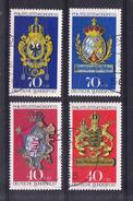 ALEMANIA 1973.CONGRESO FILATELICO INTERNACOIPNAL  IBRA  YVERT Nº614/617  SERIE COMPLETA USADA SES 383GRANDE
