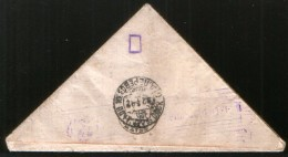 Russia USSR 1942 WW II, Triangle Letter Military Post - Omsk, Interesting Censorship RSFSR