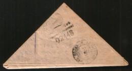 Russia USSR 1945 WW II, Triangle Letter Kotelnich (Kirov Reg.) - Moscow, Porto, To Pay, Interesting Censorship