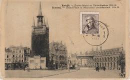 CPA - AK Kortrijk Courtrai Groote Markt Grand Place Monument 1914 - 18 Westflandern A Harelbeke Mouscron Wevelgem Ypern - Kortrijk