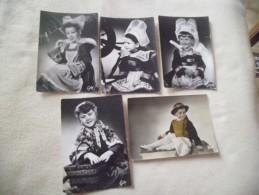 LOT DE 5 CARTES COSTUMES BRETONS..ENFANTS..FOUESNANT(2).PLOUGASTELPONT-AVEN..BIGOUDEN - Cartes Postales