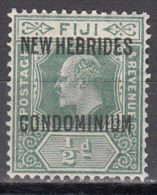 NEW HIBRIDES--BRITISH    SCOTT NO.  10    MINT HINGED     YEAR  1910 - Nuevos
