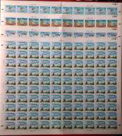 1984 Airlines Global Service Stamps Sheets Windmill Goddess Map Globe Plane