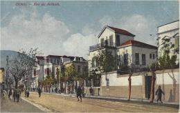 DAMAS - Rue De Salhieh - Carte Colorisée - Ed. Soubhi S. & Munir Aïta, Damas