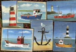 Postcard - Lighthouses & Boats. 09/80/00/82 - Lighthouses