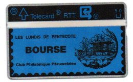 Telecarte RTT - Bourse Philatélique Péruwelz - Timbres & Monnaies