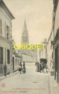 91 La Ferté Alais, Rue Notre Dame, Animée, Vieux Chariot Bâché..., Carte Peu Courante - La Ferte Alais