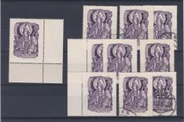 Österreich 1949, ANK 948 - 1000. Geburtstag Des Heiligen Gebhard, Je 5 Stück ** Und 5 Stück O Gestempelt (ANK 30.- €)