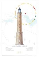 """Phare  """" Les Héaux De Bréhat """"   -   Lighthouse  -  Leuchtturm  -  Illustration Jean Benoît Héron - Fari"""