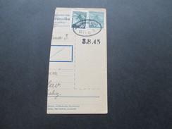 DR / Böhmen / Tschechoslowakei 3.8.1945 Paketkartenabschnitt?! Notstempel?! Brno - Briefe U. Dokumente