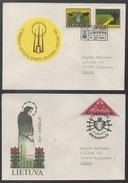 LITUANIE - LITHUANIA - LITAUEN - LIETUVA / 1991-92 - LOT DE 4 LETTRES (ref 7219)