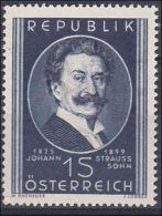 Österreich 1949, ANK 946, Johann Strauß- Sohn (ANK 6.- €) - 1945-60 Unused Stamps