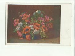 134328 Cartolina Di Fiori  Tassata Perche Mancante Del Francobollo - Fiori