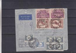Congo Belge - Lettre Taxée De 1937 - Oblitération Elisabethville - Taxée à Bruxelles De 6F - Rois De Belgique -