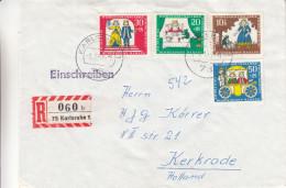 Berlin - Lettre Recommandée De 1967 - Oblitération Karlsruhe - Contes De Grimm - Grenouille - Märchen, Sagen & Legenden