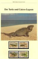 WWF-Set 42 Leguan Turks Caicos 777/0 ** 21€ Naturschutz Caicosleguan Dokumentation 1986 Wildlife Fauna Stamps Of America