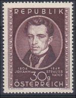 Österreich 1949, ANK 946 **, Johann Strauß- Vater Postfrisch