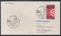 TIR A L'ARC - ARCHERIE - ARCHERY - BOGENSCHIESSEN  / 1972 ALLEMAGNE OBLITERATION ILLUSTREE SUR FDC (ref LE840) - Bogenschiessen