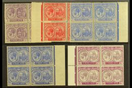 1921-29 1d Violet, 1½d Red, 2½d Bright Blue, 2½d Ultramarine & 6d Dull & Bright...