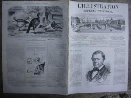L'ILLUSTRATION  1411  DELAUNAY/ CARNAVAL VENISE / CONSCRIPTION / VIADUCS METAL/ ORGUE  12 Mars 1870 - Journaux - Quotidiens