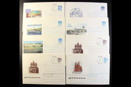 1990 PROVISIONAL SURCHARGES. All Different Collection Of Russian Postal Stationery Illustrated 5k, 7k & 50k...