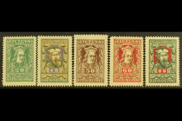 1920 National Assembly SPECIAL PRINTINGS In Different Colours Complete Set (Michel 78/83 I, SG 78a/83a), Mint,...