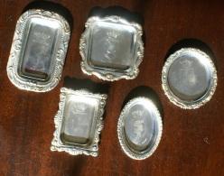 ITALIA - COLLEZIONE DI 5 PIATTINI IN SILVER PLATE STEMMI ARALDICI - Miniature