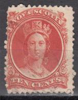 NOVA SCOTIA    SCOTT NO. 12    USED     YEAR  1860 - Nova Scotia
