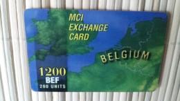MCI Prepaidcard Belgium 1200 BEF Used Very  Rare - Belgium