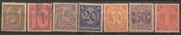 Timbres - Allemagne  - Service - 1920 - N° 9 à 15 - Sans 21 -