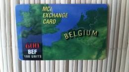 MCI Prepaidcard Belgium 600 BEF Used Very  Rare - Belgium
