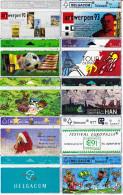 10 Télécartes Usagées Différentes. (CT9) - Belgique