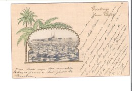 C.P.A. EGYPTE   GREETINGS   Tres Belle Carte Gauffree - Egypt